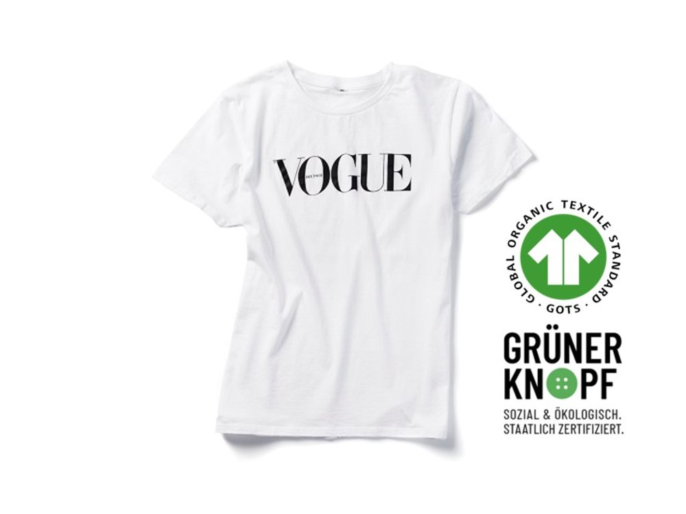 VOGUE T-Shirt weiß, Gr. L